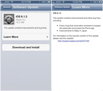 Apple Released iOS 6.1.3, Jailbreaker - Please Do Not Update
